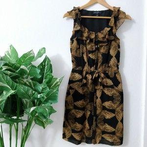Banana Republic Cinched/tie waist butterfly dress